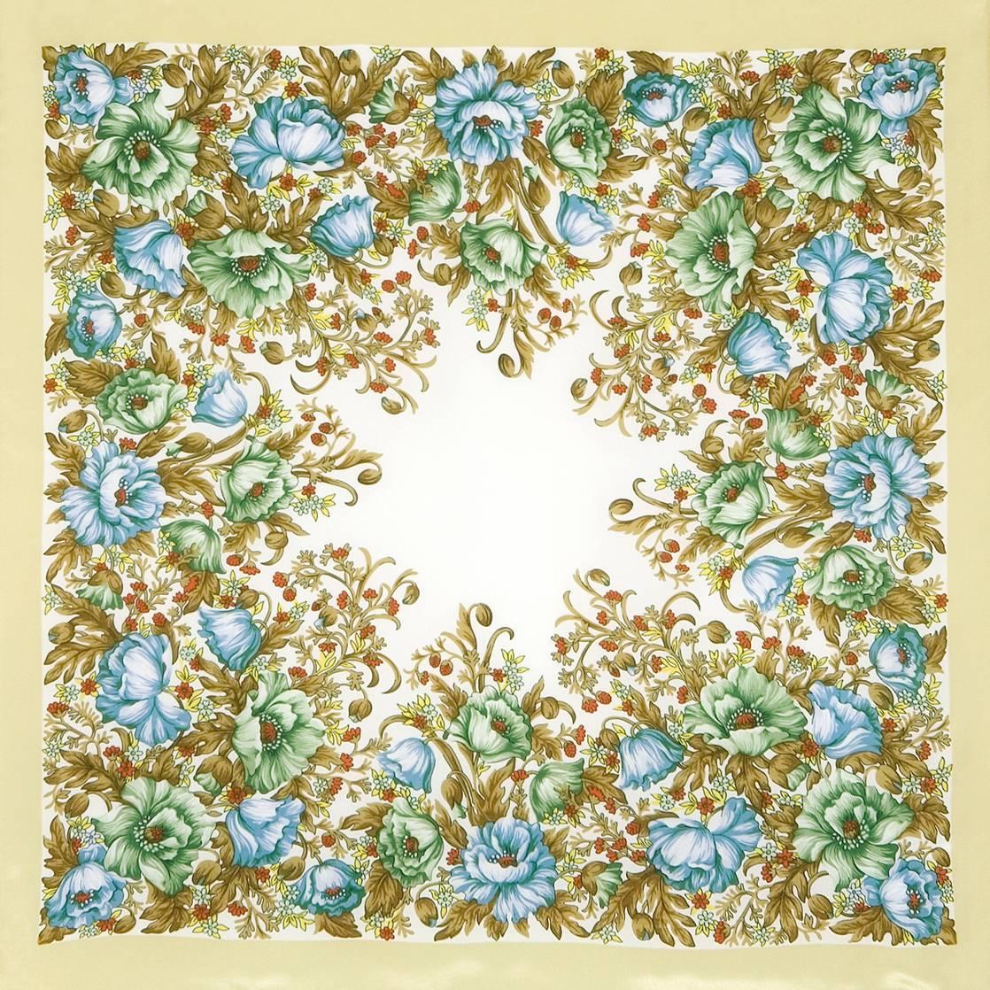 Павловопосадский платок «Цветущие маки» 1485-1